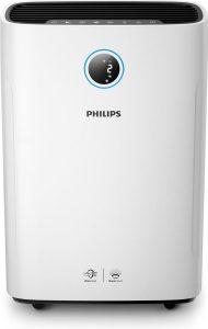 Een zeer goede luchtbevochtiger: Philips AC2729/10. Blinkt uit op kwaliteit en design.